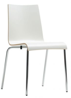 Rio Laminate Designer Chair In White