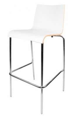 Rio Designer High Stools In White Laminate