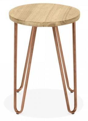 Designer Low Stool Copper Hairpin