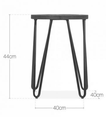 Hairpin Low Stool Dimensions