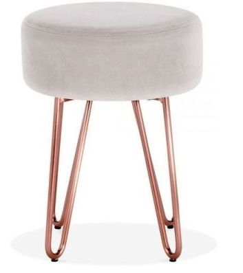 Grey And Copper Hairpin Stool