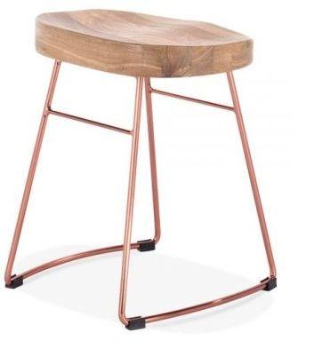 Goa Low Stool Copper Elm Seat