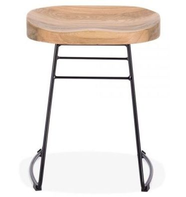 Low Stool Goa Black Frame