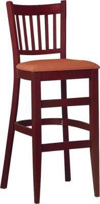 Hants Wooden Bar Stool Upholstered