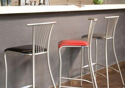 Balano Upholstered Metal Bar Stool