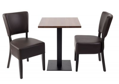 Rosie V4 Two Person Dining Set With A Square Table Top A