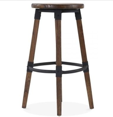 Tyrion Brown Wooden Bar Stool