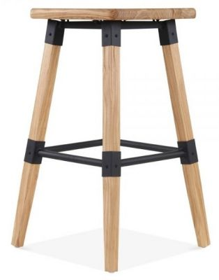 Tyrion Square Natural Bar Stool