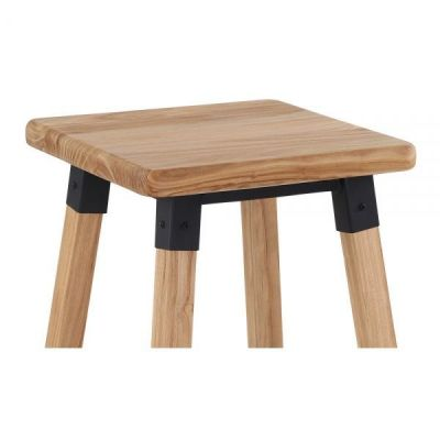 Seat Tyrion Square Natual Wood Bar Stool