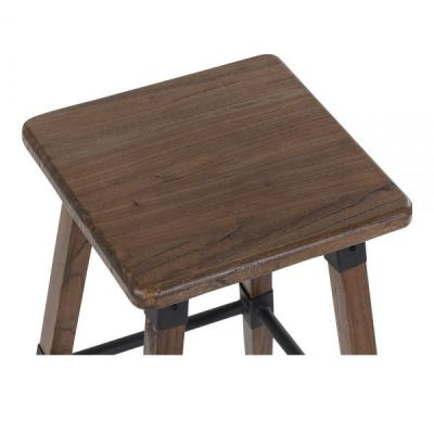 Square Tyrion Bar Stool Seat Dark