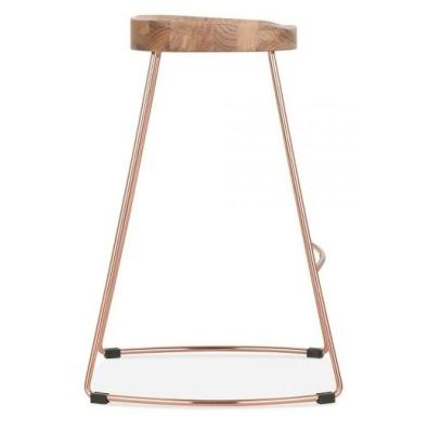 Goa Bar Stool Natural Copper Side View