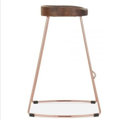 Designer Bar Stool Copper Walnut