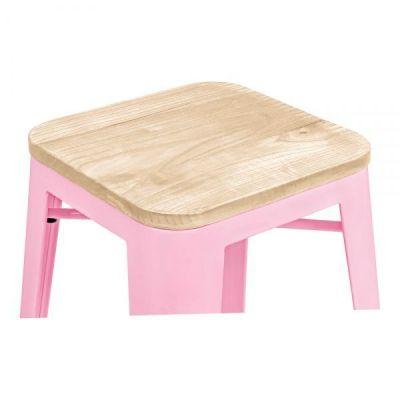 Pastel Pink Seat Wood Xavier