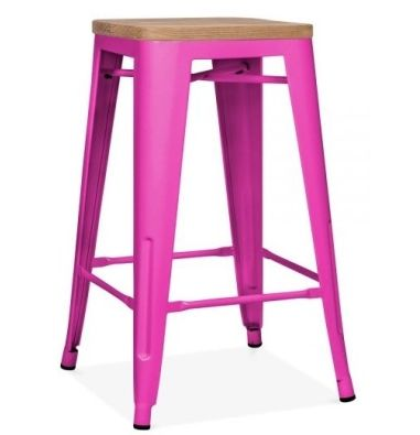 Style V2 High Stool Hot Pink 650mm High Tolix Cafe