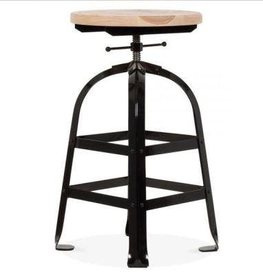 Height Adjustable Industrial Bar Stool Valdo