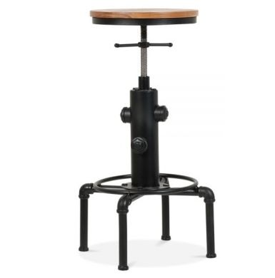 Designer Industrial Bar Stool Nikolaus