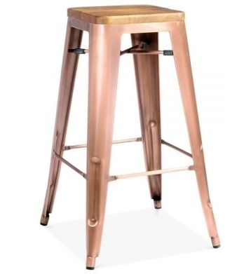 Light Copper Bar Stool Tolix