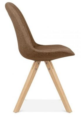 Pascoe Designer Chair Brown Fabric Natural