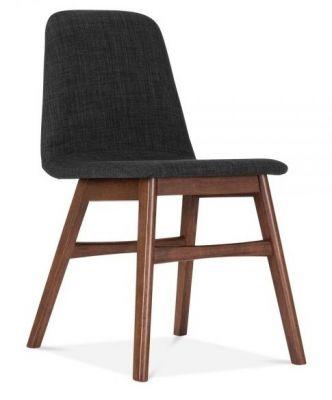 Black Fabric Designer Dining Chair