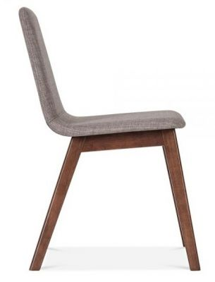 Grey Side View Dining Fortune Designer Chair