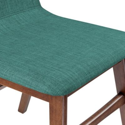 Teal Fabric Designer Dining Chair Fortune