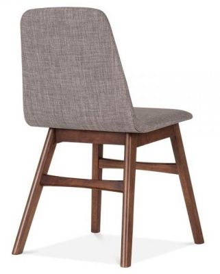 Grey Fabric Fortune Designer Dininbg Chair