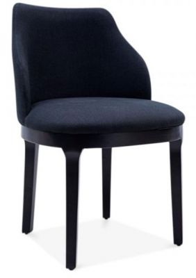 Juliette Black Upholstered Fabric Dining Chair