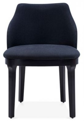 Front Juliette Fabric Black Dining Chair