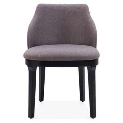Beige Black Juliette Dining Chair Upholstered