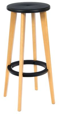 Tex High Stool Round Black Seat
