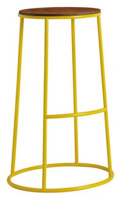 Maxo Highh Stool In Yellow With A Ply Seat