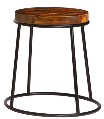 Maxo Low Stool In Black With A 32mm Pine Seat