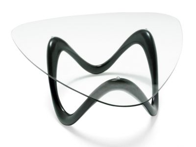 ZOOPLA DESIGNER GLASS COFFEE TABLE