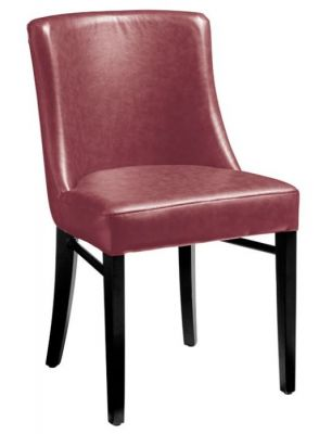 Dayco Red Leather Dining Chair