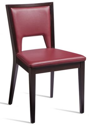Fleet Red Leather Dining Side Chair