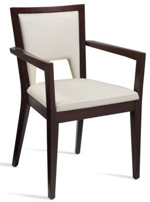 Admirable Fleet Leather Dining Armchair White Machost Co Dining Chair Design Ideas Machostcouk
