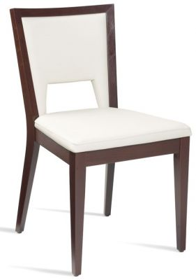 Fleet White Leather Dining Chair