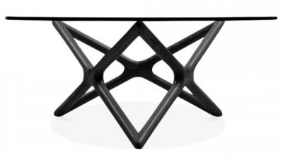 Niga Designer Glass Coffee Table With A Blkack Frame 2