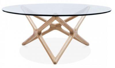 Niga Designer Glass Cofffee Table Natural 1