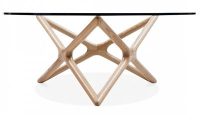 Niga Designer Copffee Table With A Natural Frame 2