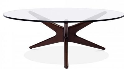 Starbust Desiogner Coffee Table With A Walnut Frame 1