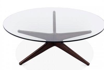 Starburst Designer Coffee Table With A Walnut Frame 2
