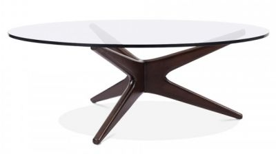 Starburst Designer Table With A Walnut Frame 3