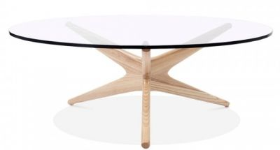 Starburst Designer Coffee Table With A Natural From 4