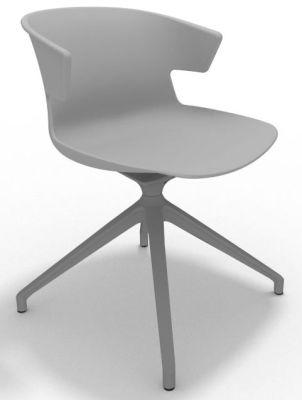 Elegante Spider Base Chair - Grey Aluminium