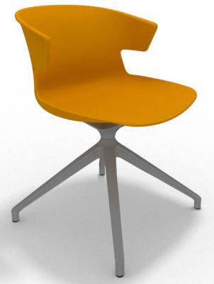 Elegante Spider Base Chair - Ochre Aluminium