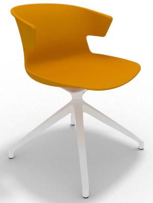 Elegante Spider Base Chair - Ochre White