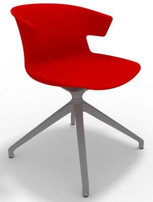 Elegante Spider Base Chair - Red Aluminium