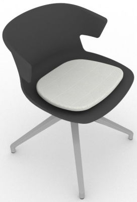Elegante Spider Base Chair - Anthracite Grey Seat Pad 2