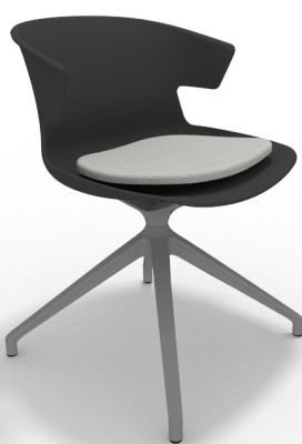 Elegante Spider Base Chair - Anthracite Grey Seat Pad